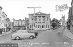 Andover, Guildhall And High Street c.1965