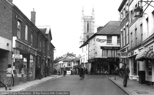 Photo of Andover, High Street c.1955