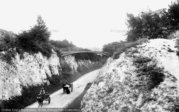 Photo of Andover, Ladies' Walk And Iron Bridge 1904
