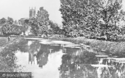 Andover, River And Church c.1900
