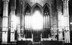 Andover, St Mary's Church Interior c.1910