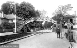 Andover, The Railway Station 1900