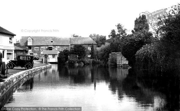Andover,the River and Town Mills c1950,Hampshire