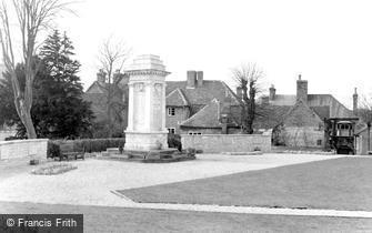 Andover, the War Memorial c1960