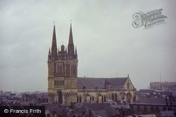 St Maurice Cathedral From Tower Of Chateau 1984, Angers