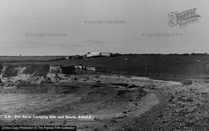 Photo of Angle, Pill Farm Camping Site And Beach c.1955