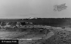 Angle, Pill Farm Camping Site And Beach c.1955