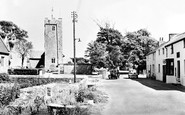 Angle, Post Office And St Mary's Church c.1955