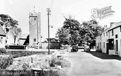 Post Office And St Mary's Church c.1955, Angle