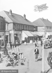 Angmering-on-Sea, A Pedestrian In The Village c.1960