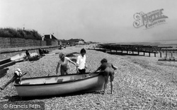 Angmering-on-Sea, Beach c.1955
