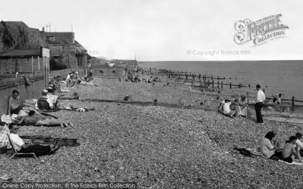 Photo of Angmering On Sea, Beach c.1960