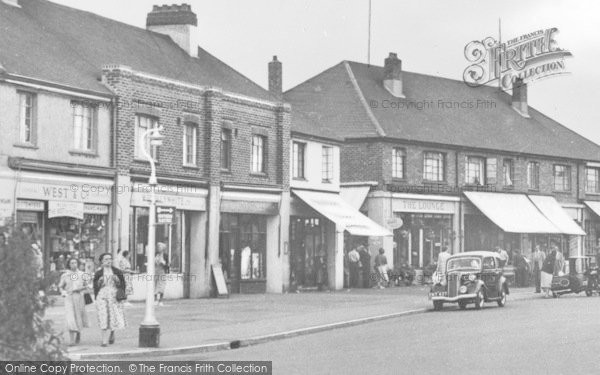 Photo of Angmering On Sea, Businesses In Sea Road c.1955