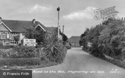 Angmering-on-Sea, Road To The Sea c.1955