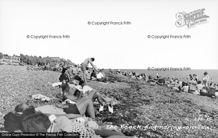 Photo of Angmering On Sea, The Beach c.1955