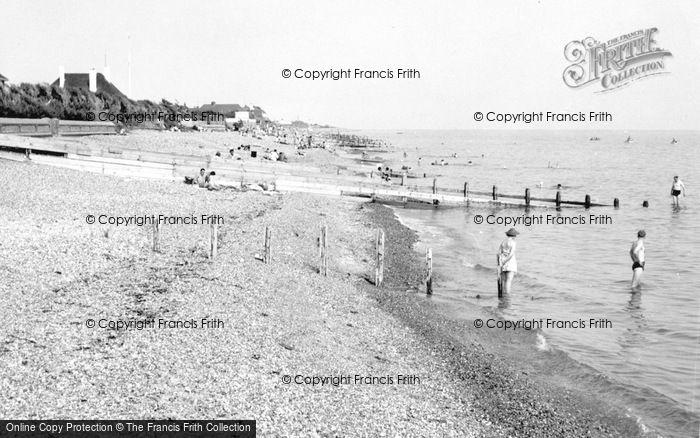 Photo of Angmering On Sea, The Beach c.1955