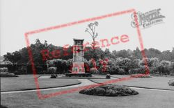 Annfield Plain, War Memorial In The Park c.1955