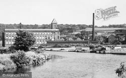 Apperley Bridge, Oaklea Mills, The Leeds And Liverpool Canal c.1955