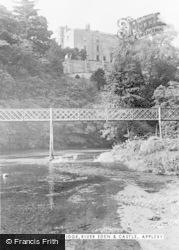 Appleby, Jubilee Bridge, River Eden And Castle c.1955
