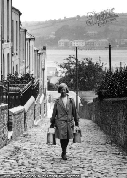 Appledore, Alpha Place, Girl Carrying The Milk 1930