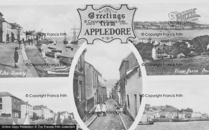 Photo of Appledore, Composite c.1950