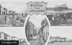 Appledore, Composite c.1950