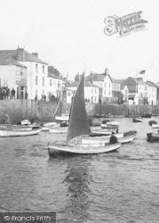 Appledore, Man In Sailing Boat 1907