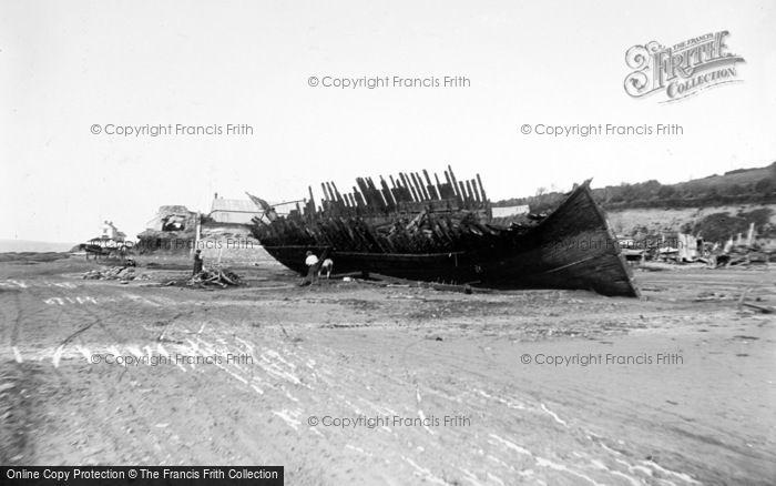 Photo of Appledore, Old Boat Being Broken Up c.1890