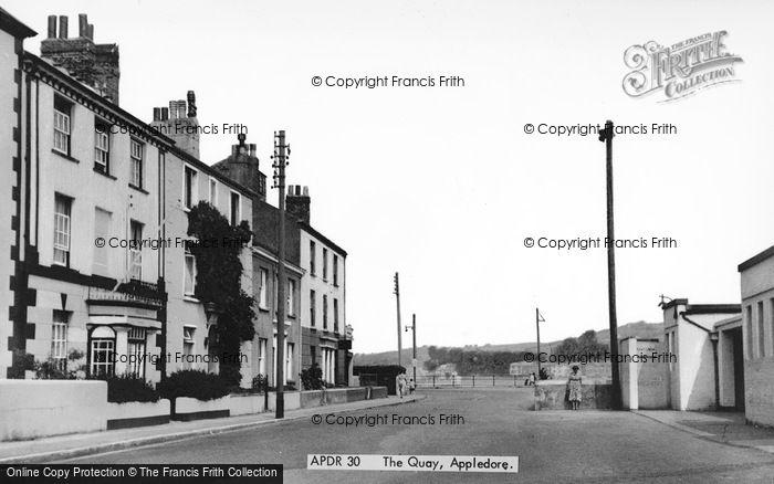 Photo of Appledore, The Quay c.1955