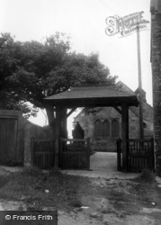 Appleton Wiske, The Lych Gate, Parish Church c.1955