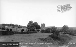 The Church And Vicarage c.1960, Arkengarthdale