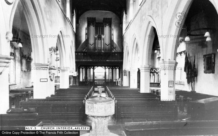 Photo of Arlesey, Church Interior c.1965