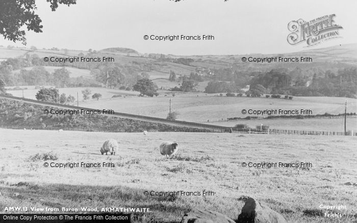 Photo of Armathwaite, View From Baron Wood c.1965