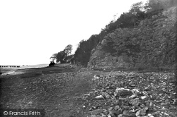 The Shore And Cliffs c.1935, Arnside