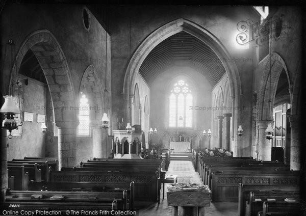 Arreton, Church Interior 1890