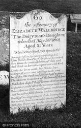 Arreton, St George's Church, Dairyman's Daughter's Grave c.1874