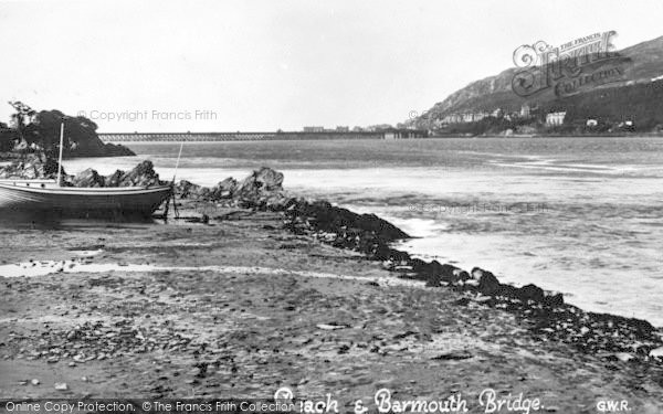Photo of Arthog, Beach And Barmouth Bridge c.1935