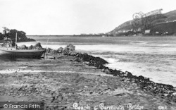 Arthog, Beach And Barmouth Bridge c.1935