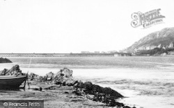 Arthog, Beach And Barmouth Bridge c.1955