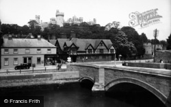 Arundel, Bridge And Castle 1935