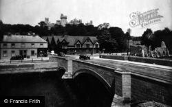 Arundel, Bridge And Castle 1936