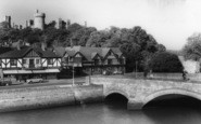 Arundel, Bridge And Castle c.1960