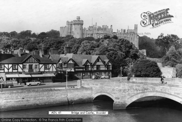 Photo of Arundel, Bridge And Castle c.1960
