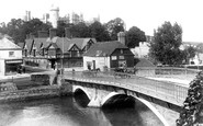 Arundel, Castle And Bridge 1902
