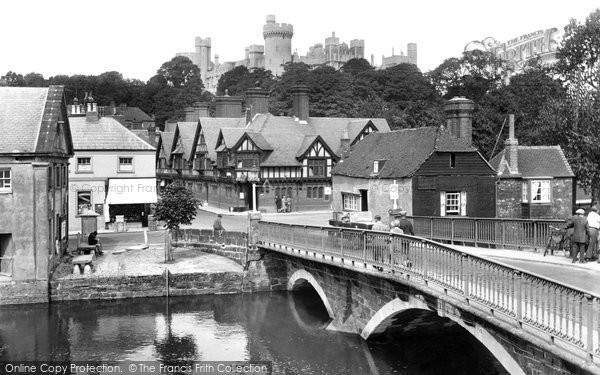 Arundel, Castle And Bridge 1928