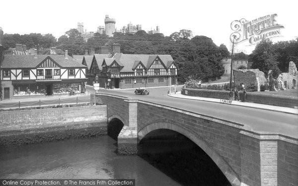 Arundel, Castle And Bridge 1939