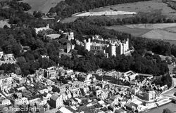 Arundel, Castle And Town From The Air c.1955