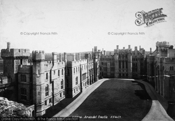 Photo of Arundel, Castle Courtyard 1900