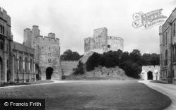 Arundel, Castle Courtyard 1908