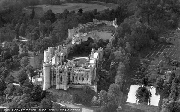 Photo of Arundel, Castle From The Air c.1958
